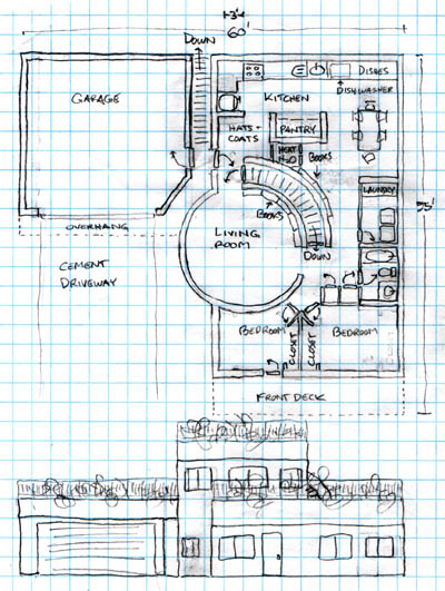 Floor plan b for Bob house plans