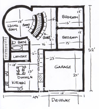 24 Round House Plans 16\' X 40\' House Plans ~ Home Plan And House ...