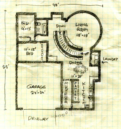 Floor plan C on country kitchen plans, room addition floor plans, large kitchen with pantry floor plans, house plans with great views, european house floor plans, large kitchen islands with open floor plans, house plans with open kitchen, house plans with wrap-around porches,